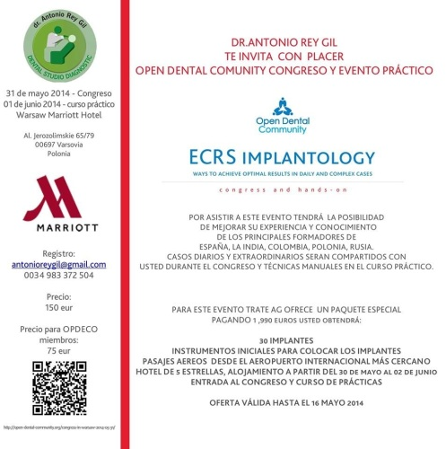 invitación congreso implantes